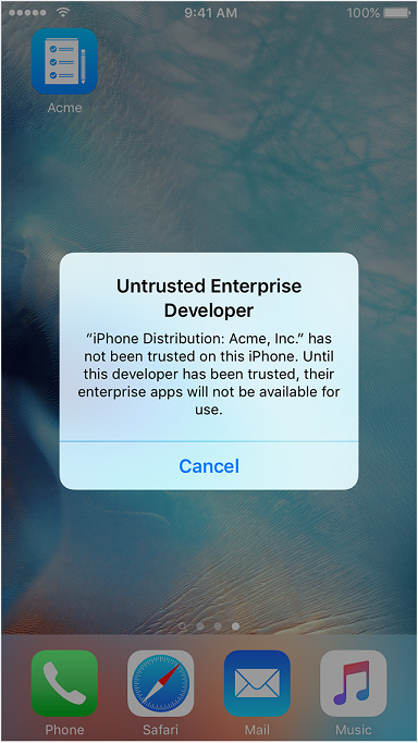 trust untrusted enterprise developer