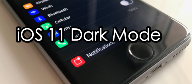 how to enable dark mode on ios 11